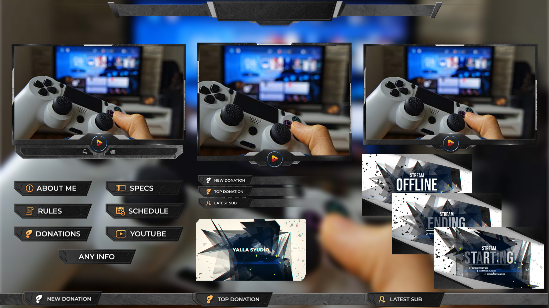 Stream Package After Effects Template
