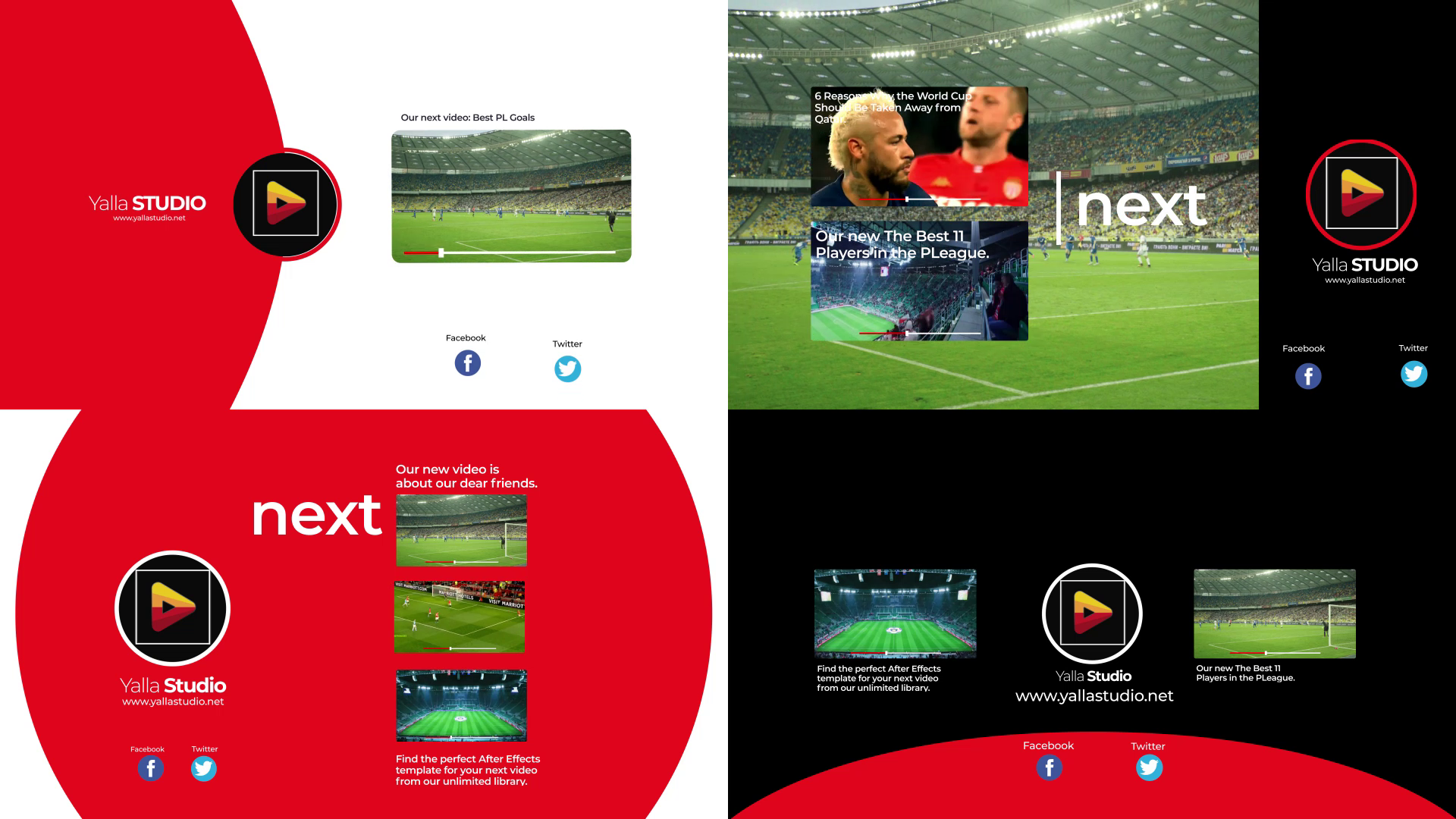 Youtube End Screen Sport Pack Vol2